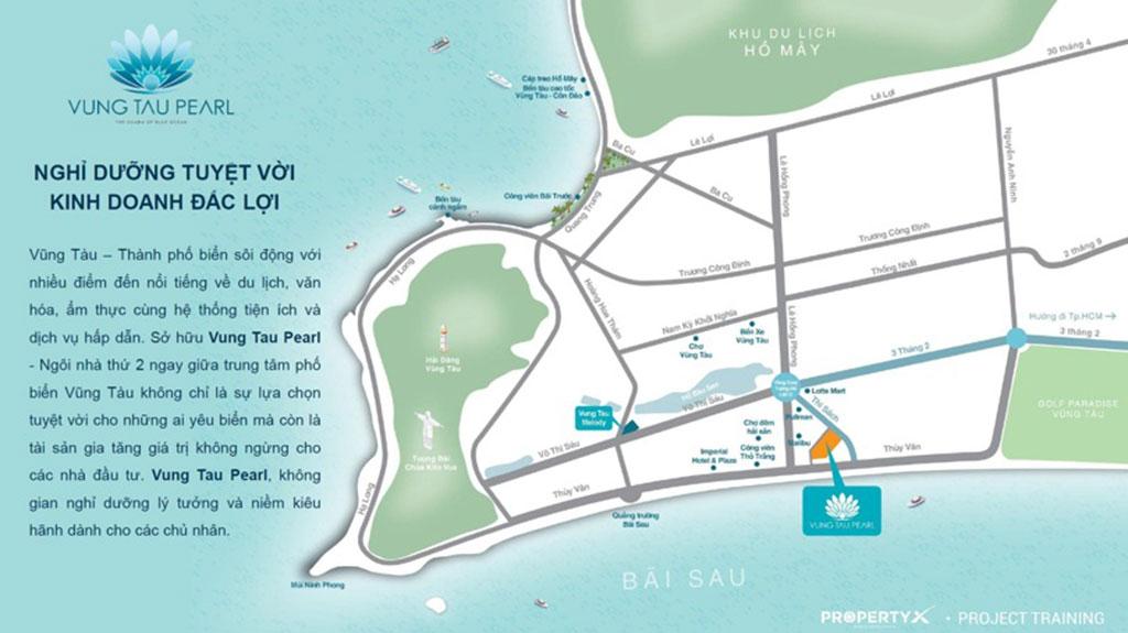 Vị trí dự án Vũng Tàu Pearl CĐT Hưng Thịn