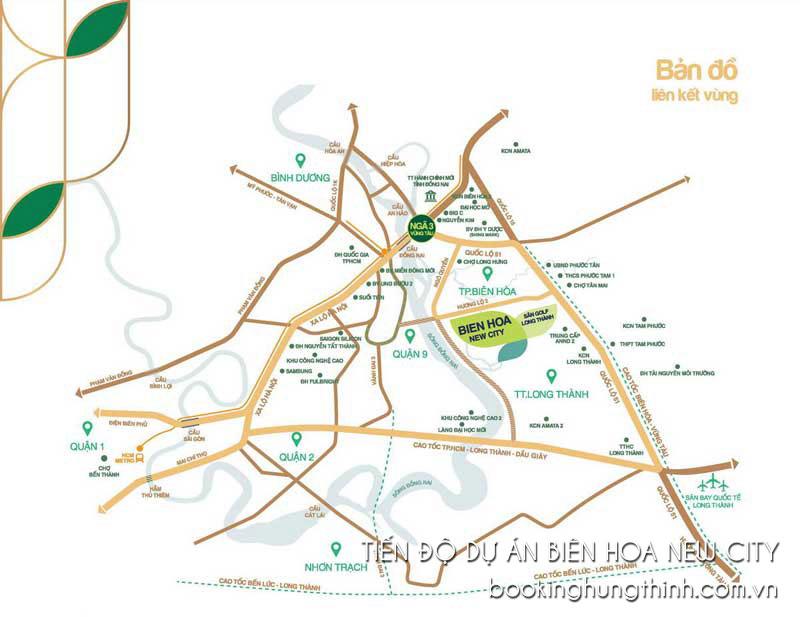 Hình ảnh vị trí dự án Biên Hòa New City Đồng Nai
