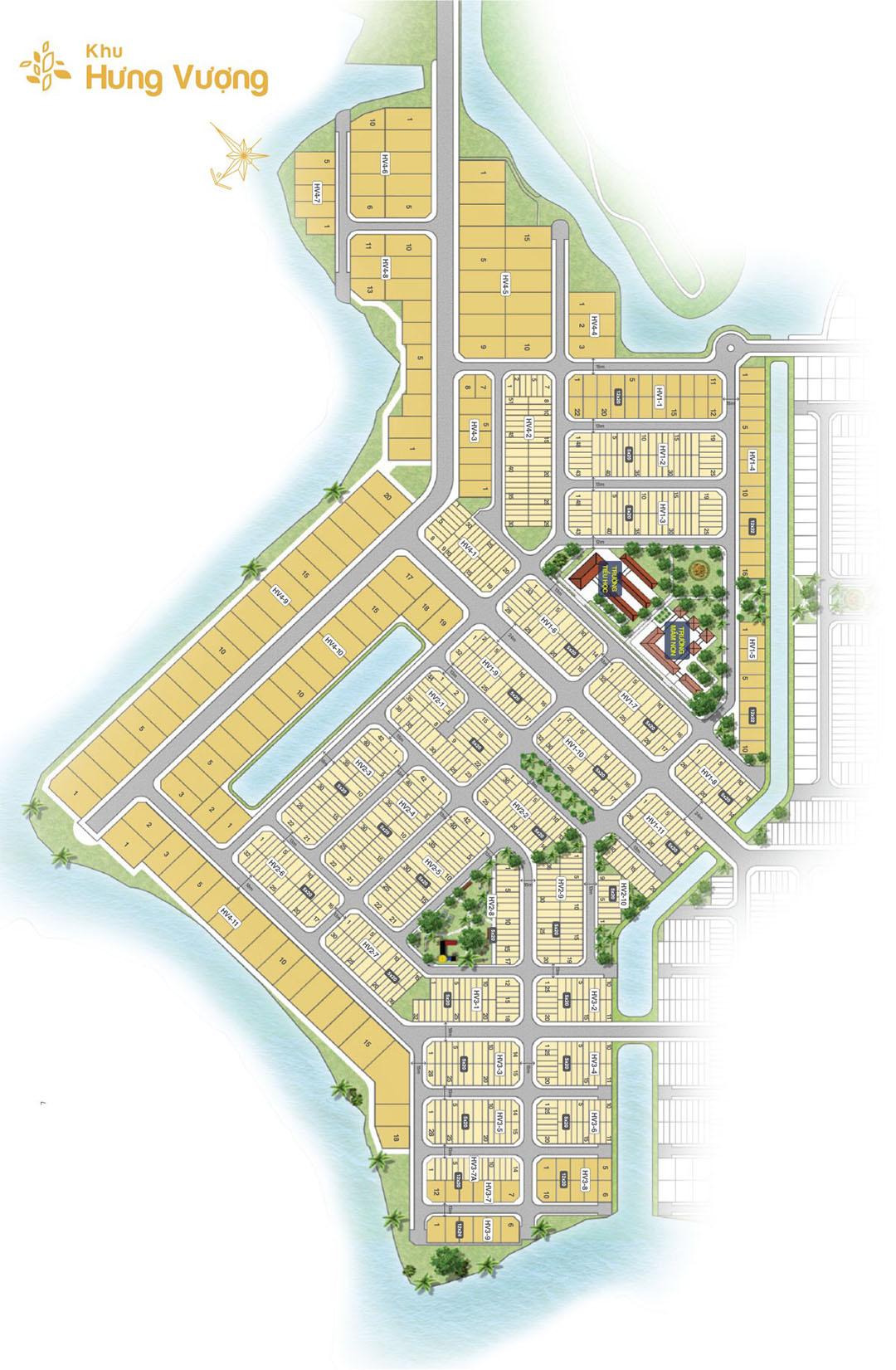 Mặt bằng khu Hưng Vượng dự án Biên Hòa New City