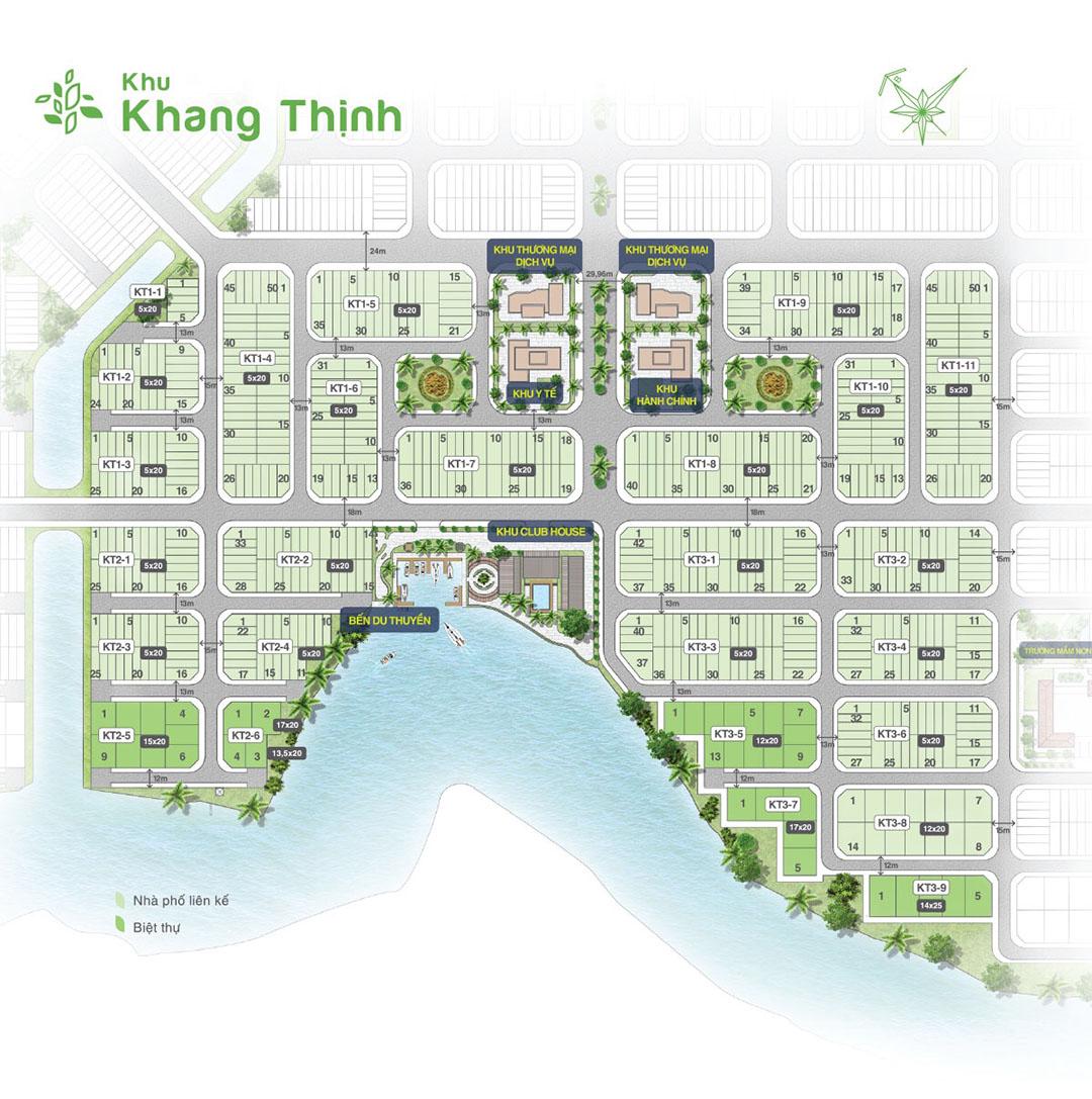 Mặt bằng khu Khang Thịnh dự án Biên Hòa New City
