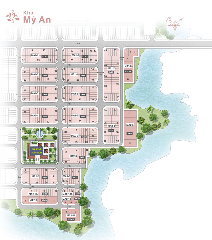 Mặt bằng khu Mỹ An dự án Biên Hòa New City