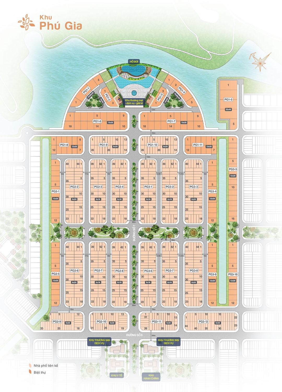 Mặt bằng khu Phú Gia dự án Biên Hòa New City