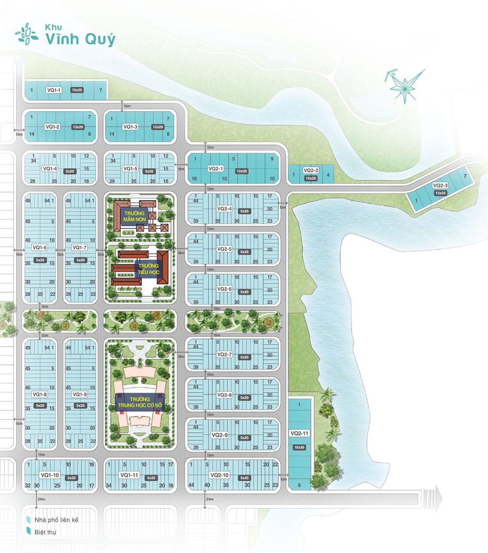 Mặt bằng khu Vĩnh Quý dự án Biên Hòa New City