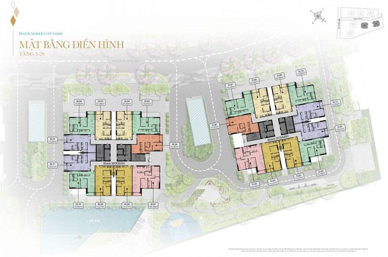 Mặt bằng tầng điển hình khu căn hộ Biên Hòa Universe Complex