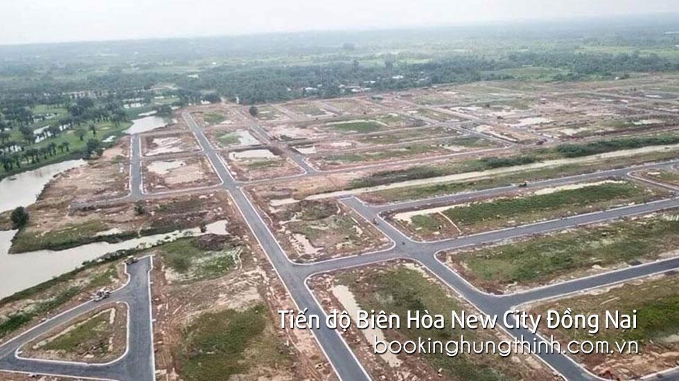 Tiến độ xây dựng Biên Hòa New City Đồng Nai - Hưng Thịnh Land