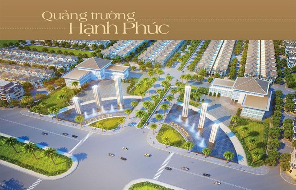 Tiện ích quảng trường Hạnh Phúc dự án Golden Bay