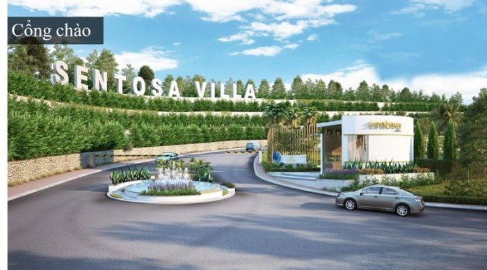 Cổng chào Sentosa Villa Mũi Né