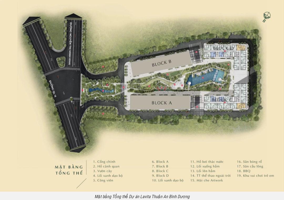 Mặt bằng căn hộ dự án Lavita Thuận An