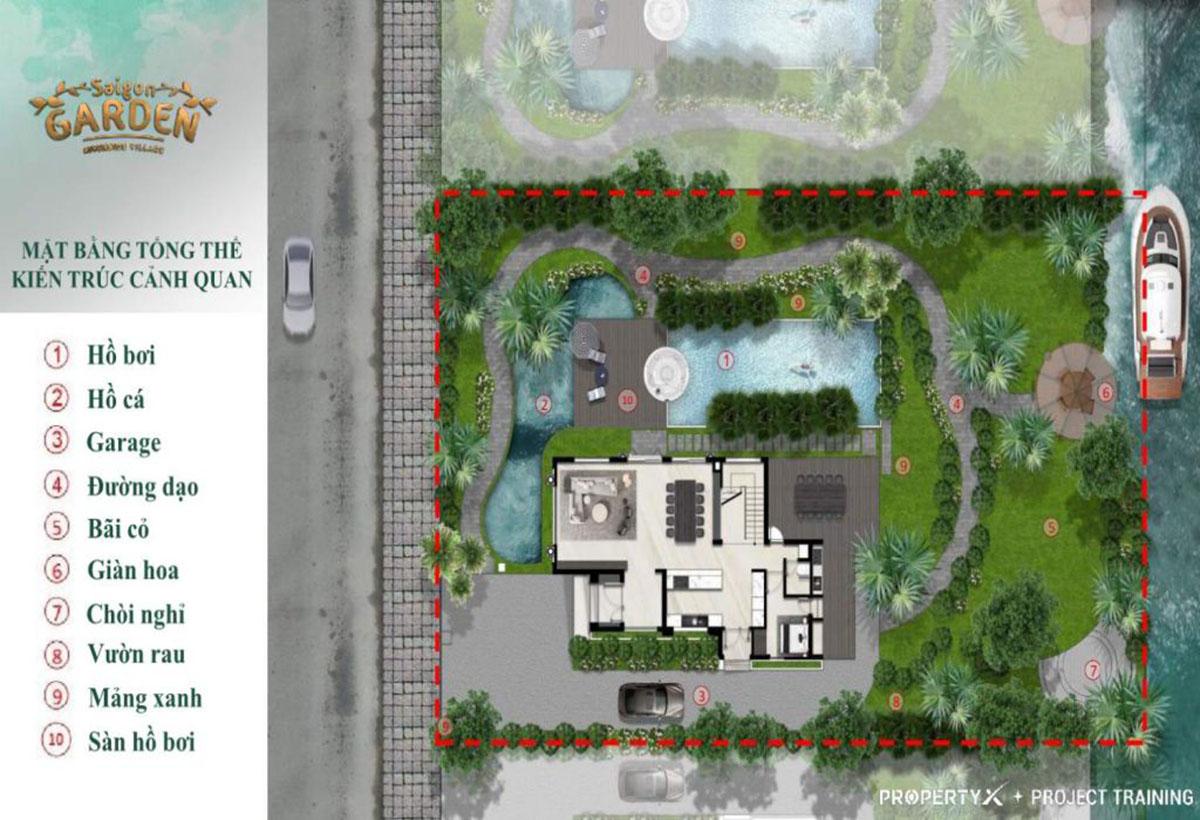 Tham khảo mặt bằng dự án Saigon Garden Riverside Village quận 9