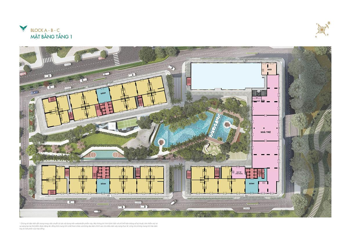 Mặt bằng căn hộ tầng 1 dự án Lavita Thuận An