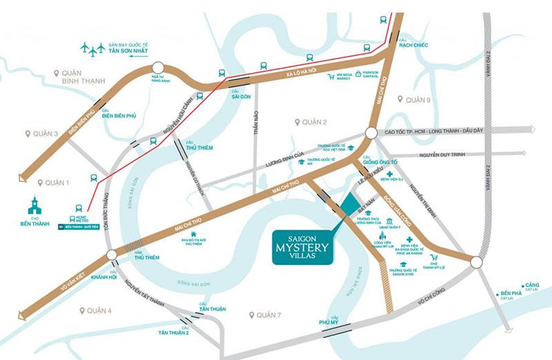 Vị trí dự án biệt thự Saigon Mystery Villas