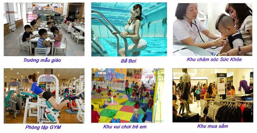 Tiện ích nội khu chung cư căn hộ Tây Nam Linh Đàm
