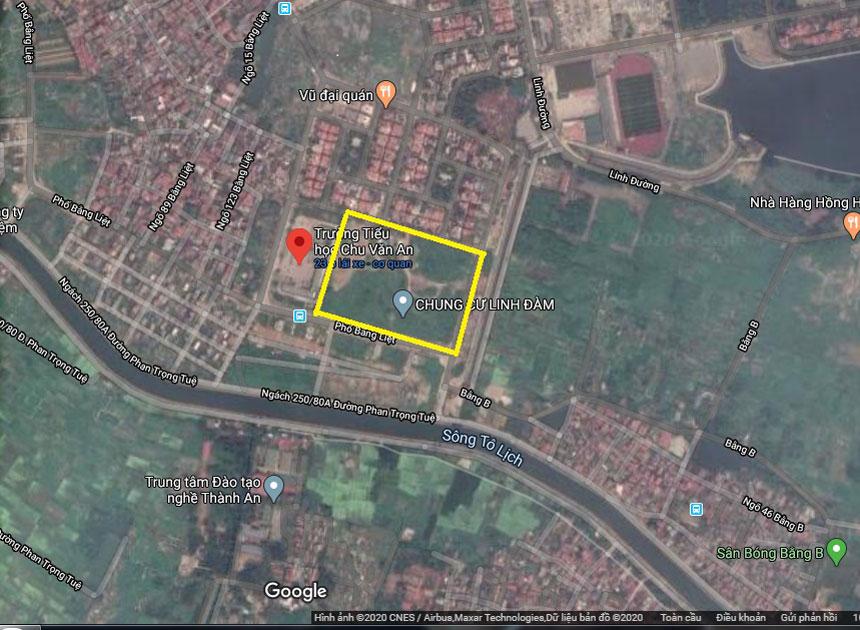 Vị trí chung cư căn hộ Tây Nam Linh Đàm