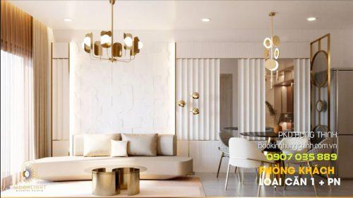 Thiết kế căn hộ Moonlight Centre Point Bình Tân 1 phòng ngủ