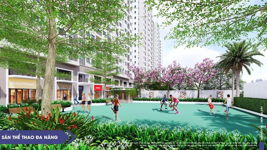 Tiện ích sân thể thao tại căn hộ Moonlight Centre Point, dự án Moonlight Complex