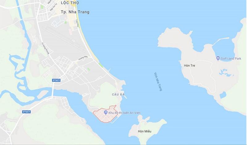 Vị trí dự án biệt thự An Viên Nha Trang