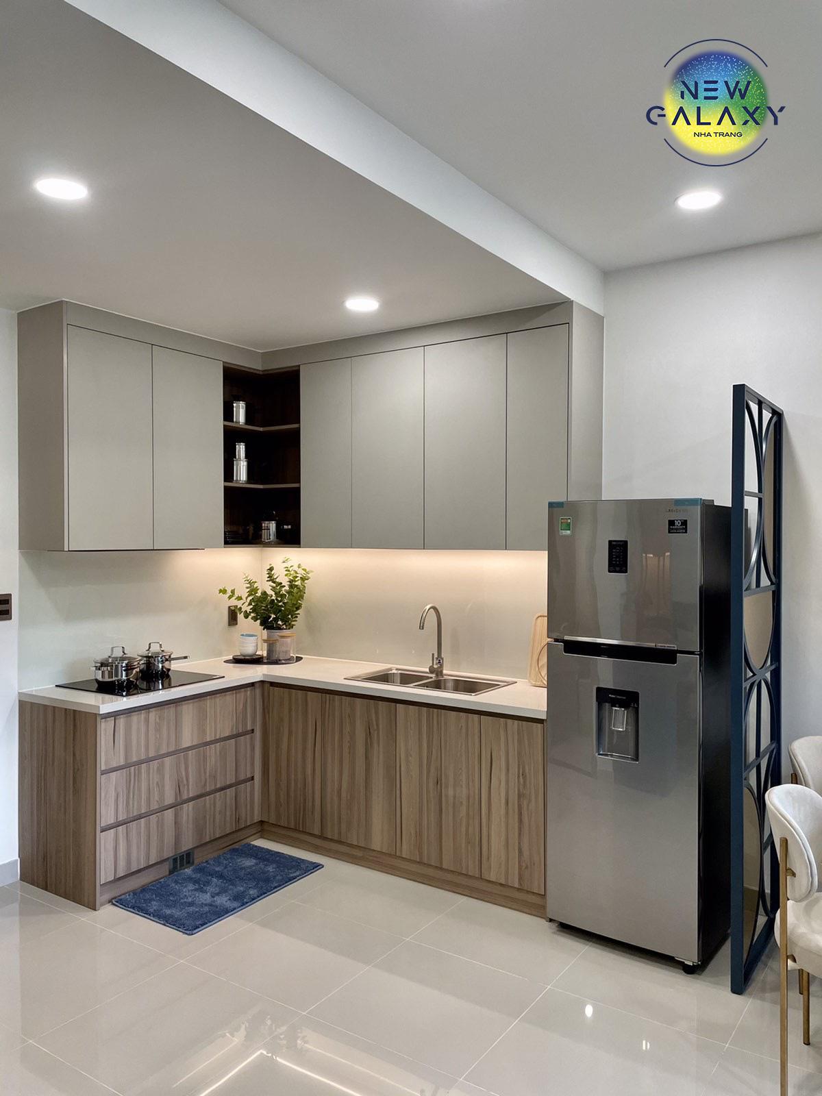 Phòng bếp mẫu căn hộ New Galaxy Nha Trang