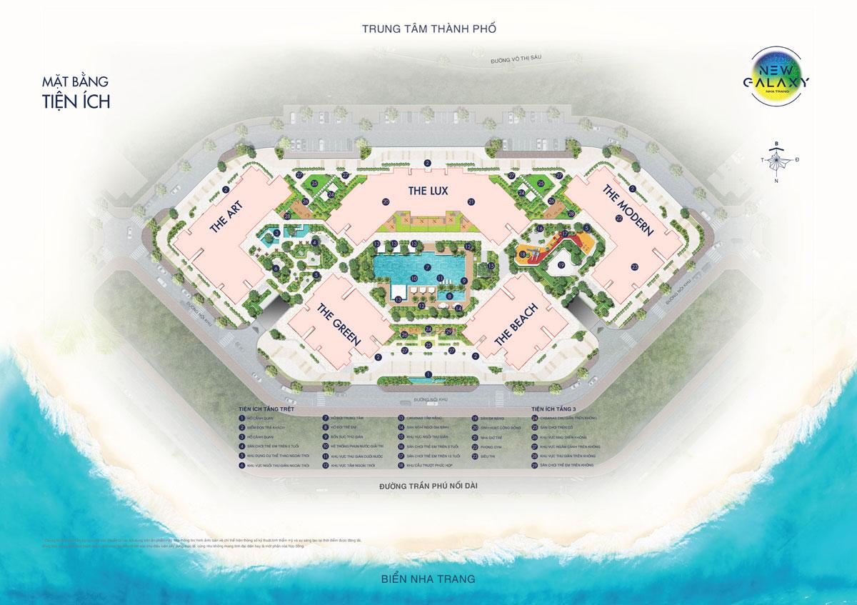 Mặt bằng tiện ích dự án khu dân cư New Galaxy Nha Trang