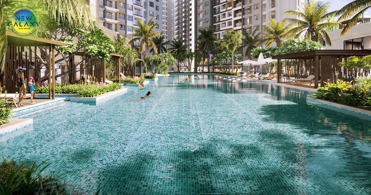 Tiện ích hộ bơi dự án New Galaxy Nha Trang Hưng Thịnh